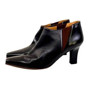Ferragamo Brown Point Toe Ankle Bootie10 1/2EUC